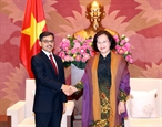 Chủ tịch Quốc hội Nguyễn Thị Kim Ngân tiếp Đại sứ Ấn Độ
