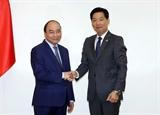Thủ tướng Nguyễn Xuân Phúc tiếp Lãnh đạo Aeon Mall