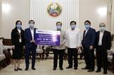Doanh nghiệp Việt Nam hỗ trợ Lào chống dịch bệnh COVID -19