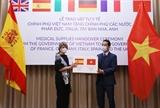 Trao hàng hỗ trợ phòng chống dịch COVID-19 của Việt Nam tặng một số nước châu Âu