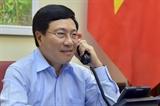 Phó Thủ tướng Bộ trưởng Phạm Bình Minh điện đàm với Bộ trưởng Ngoại giao và Hợp tác Quốc tế Italy