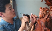 Wood sculptures made in Van Ha