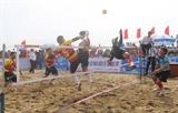 다낭 바닷가에서 열리는 세팍타크로 대회