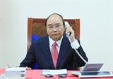 លោកនាយករដ្ឋមន្រ្តី Nguyen Xuan Phuc បានអញ្ជើញជួបសន្ទនាតាមទូរស័ព្ទជាមួយនាយករដ្ឋមន្រ្តីសិង្ហបុរី លោក Lee Hsien Loong