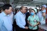 Thủ tướng Nguyễn Xuân Phúc đối thoại với công nhân và làm việc với lãnh đạo tỉnh Bắc Ninh