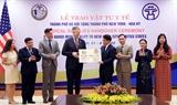 Hà Nội trao tặng thành phố New York (Hoa Kỳ) vật tư y tế phòng chống dịch COVID-19 