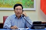 Phó Thủ tướng Bộ trưởng Ngoại giao Phạm Bình Minh điện đàm với Bộ trưởng Ngoại giao Nhật Bản
