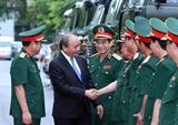 Thủ tướng Chính phủ Nguyễn Xuân Phúc: Cán bộ hậu cần phải thực sự thương yêu chăm lo đến đời sống vật chất tinh thần của bộ đội