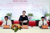 Chủ tịch Quốc hội Nguyễn Thị Kim Ngân dự Hội nghị thường trực Hội đồng nhân dân khu vực miền Đông Nam Bộ và Đồng bằng sông Cửu Long