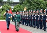 La présidente de lAN travaille avec larmée de lair et de la défense anti-aérienne