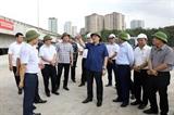 Bí thư Thành uỷ Hà Nội kiểm tra đôn đốc đẩy nhanh các dự án giao thông trọng điểm