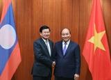 Thủ tướng Chính phủ Nguyễn Xuân Phúc hội đàm với Thủ tướng Lào Thongloun Sisoulith