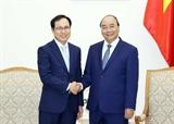 Thủ tướng Chính phủ Nguyễn Xuân Phúc tiếp Tổng Giám đốc Tổ hợp Samsung Việt Nam