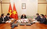 Tổng Bí thư Chủ tịch nước Nguyễn Phú Trọng điện đàm với Tổng Bí thư Chủ tịch nước Lào Bounnhang Vorachith