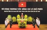 Cérémonie en hommage de lancien secrétaire général du Parti Le Kha Phieu