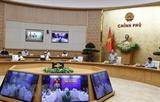 응웬쑤언푹 총리 코로나19 대책 논의 전국  온라인 회의 주재