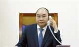 នាយករដ្ឋមន្រ្តីវៀតណាមលោក Nguyen Xuan Phuc អញ្ជើញជួបពិភាក្សាតាមទូរស័ព្ទជាមួយនាយករដ្ឋមន្រ្តីជប៉ុនលោក Abe Shinzo