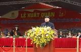 Lễ ra quân diễn tập y tế phục vụ Đại hội XIII của Đảng