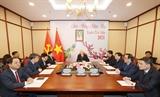 Tổng Bí thư Chủ tịch nước Nguyễn Phú Trọng điện đàm với Tổng Bí thư Lào Thongloun Sisoulith