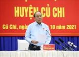 ប្រធានរដ្ឋ លោក Nguyen Xuan Phuc អញ្ជើញជួបសំណេះសំណាលជាមួយម្ចាស់បោះឆ្នោតនៅទីក្រុងហូជីមិញ