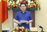 Chủ tịch Quốc hội Vương Đình Huệ chủ trì buổi làm việc về chính sách tài khóa và chính sách tiền tệ