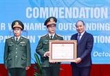Chủ tịch nước tuyên dương các tập thể và cá nhân có thành tích xuất sắc tham gia hoạt động Gìn giữ hòa bình Liên Hợp quốc