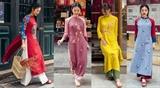 Xu hướng áo dài vintage của người Việt
