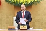 នាយករដ្ឋមន្រ្តី លោក Nguyen Xuan Phuc ធ្វើជាអធិបតីក្នុងកិច្ចប្រជុំរបស់រដ្ឋាភិបាលប្រចាំខែកុម្ភៈ