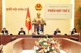 응우옌 티 낌 응언 국회의장 국가선거위원회 3차 회의 주재