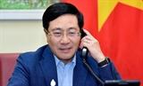 ឧបនាយករដ្ឋមន្រ្តី រដ្ឋមន្រ្តីការបរទេស លោក Pham Binh Minh អញ្ជើញជួបសន្ទនាតាមទូរស័ព្ទជាមួយរដ្ឋមន្រ្តីការបរទេសសិង្ហបុរី លោក Vivian Balakrishnan
