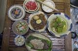 Mô hình ẩm thực truyền thống làm từ đất sét