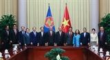 Chủ tịch nước Nguyễn Xuân Phúc tiếp Đại sứ Đại biện các nước ASEAN tại Hà Nội