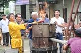 Thanh Hoa: Cérémonie de coulée de tambour de bronze pour célébrer les élections législatives
