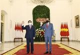 팜밍찡 국무총리 인도네시아 도착하여 조코 위도도 대통령과의 만남