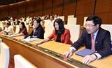 Trình Quốc hội phê chuẩn việc bổ nhiệm 2 Phó Thủ tướng và 12 bộ trưởng trưởng ngành