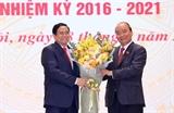 Chủ tịch nước Nguyễn Xuân Phúc Thủ tướng Chính phủ Phạm Minh Chính dự Lễ bàn giao công việc của Thủ tướng Chính phủ
