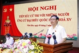 Presidente del Parlamento vietnamita se reúne con votantes de Hai Phong