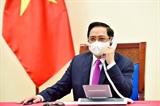 Премьер-министр Фам Минь Тьинь провел телефонные переговоры со своим тайским коллегой