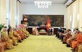 Vesak : le président Nguyen Xuan Phuc reçoit une délégation de lEBV