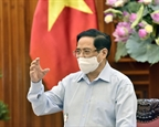 នាយករដ្ឋមន្រ្តីលោក Pham Minh Chinh អញ្ជើញជួបធ្វើការជាមួយក្រសួងសុខាភិបាល