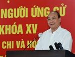 លោកប្រធានរដ្ឋ Nguyen Xuan Phuc អញ្ជើញជួបសំណេះសំណាលជាមួយអ្នកបោះឆ្នោតទីក្រុងហូជីមិញ