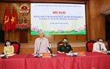 Tổng Bí thư Nguyễn Phú Trọng tiếp xúc cử tri vận động bầu cử tại Hà Nội