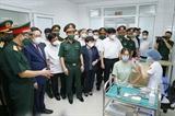 Chủ tịch Quốc hội Vương Đình Huệ thăm làm việc tại Học viện Quân y