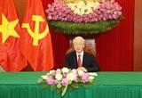 チョン党書記長、スリランカ大統領と電話会談