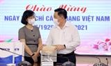 Глава Отдела ЦК КПВ по пропаганде и политическому просвещению Нгуен Чонг Нгиа поздравляет ВИА с Днем революционной прессы Вьетнама