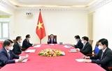 Thủ tướng Chính phủ Phạm Minh Chính điện đàm với Thủ tướng Đức Angela Merkel