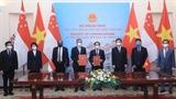 促进越南—新加坡战略伙伴关系走向深广