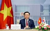 브엉딩후에 국회의장 한국 국회의장과의 화상회담