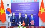 Việt Nam - Hàn Quốc thúc đẩy tổng thể hợp tác song phương trên các lĩnh vực