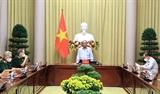 Chủ tịch nước Nguyễn Xuân Phúc làm việc với Hội Nạn nhân chất độc da cam Việt Nam và Hội Hỗ trợ gia đình liệt sỹ Việt Nam